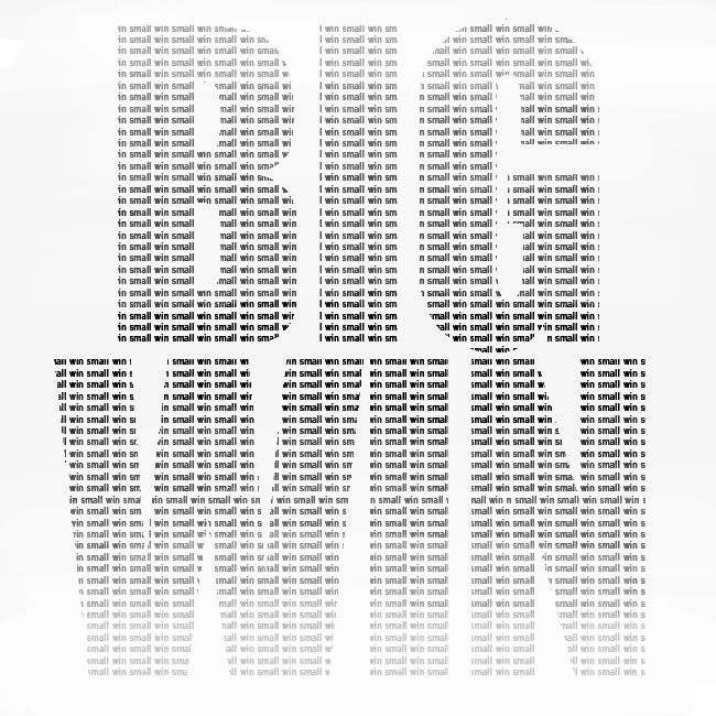 small wins add up to a big win motivational poster