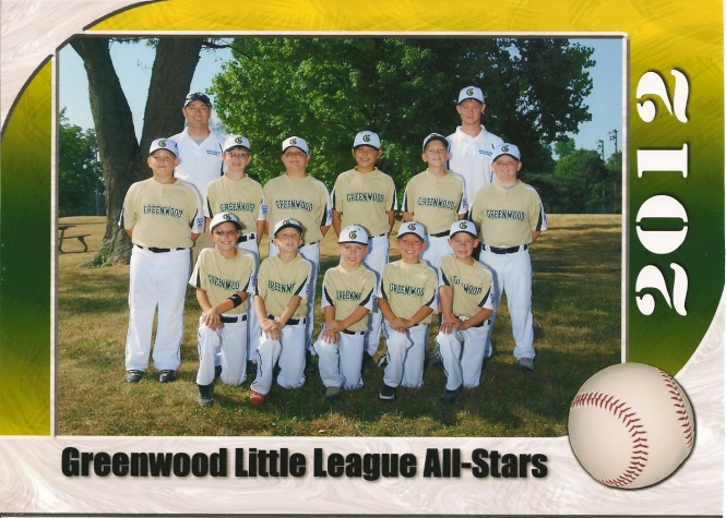 9-10 year old Greenwood Gold Team 2012
