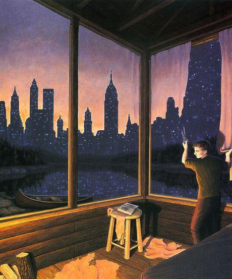 City Skyline Curtains by Rob Gonsalves