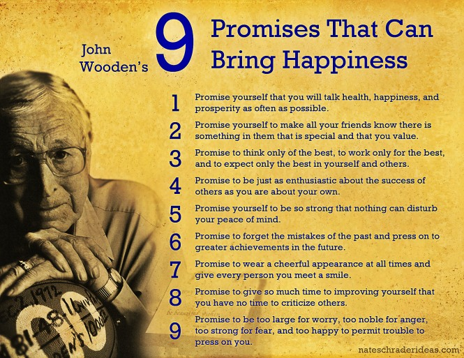 happiness quotes from john wooden