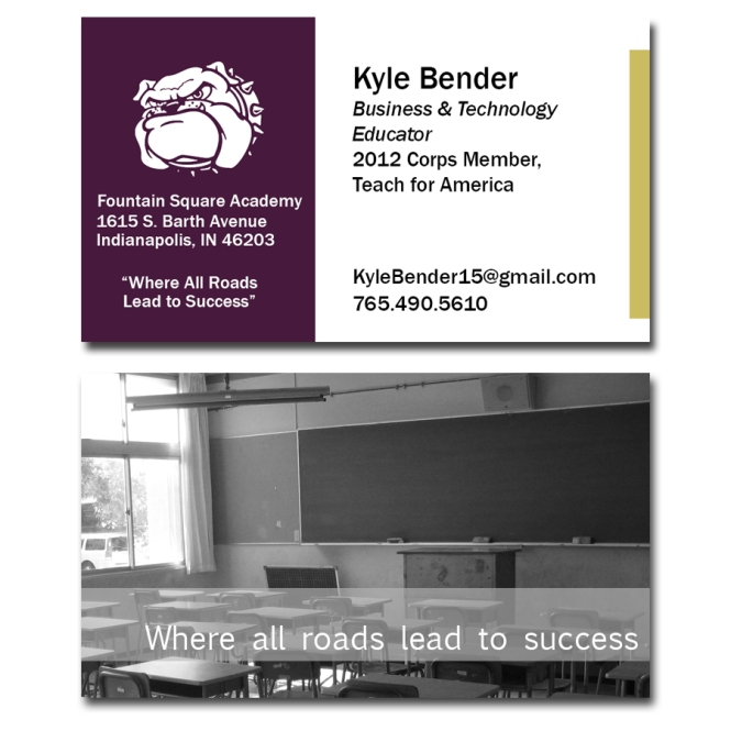 Teach for America Corps Member Business Card