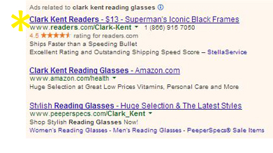 0 REA Clark Kent Reading Glasses
