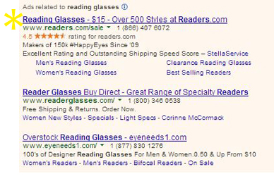 0 REA 'reading glasses'