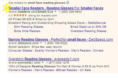0 REA Small Reading Glasses