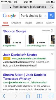 Frank Sinatra Jack Daniels Serp
